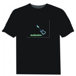 Camiseta Led Guitarra