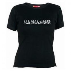 Lee mas Libros y Menos Camisetas