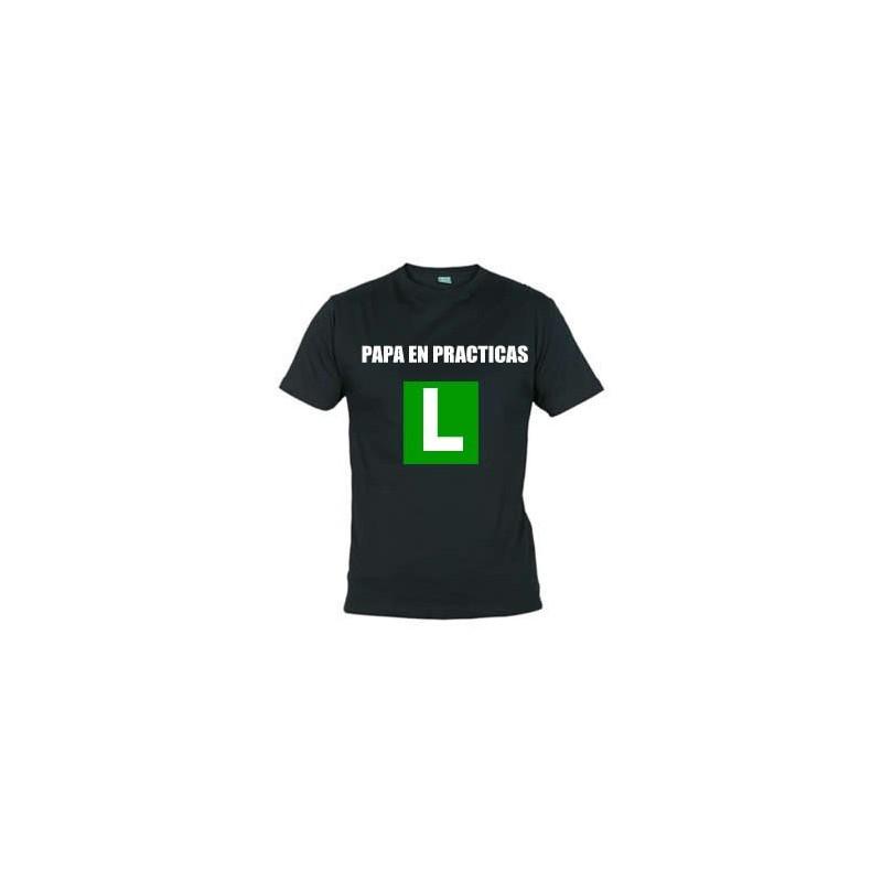 Camiseta papa en practicas con la l de conductor for L practicas