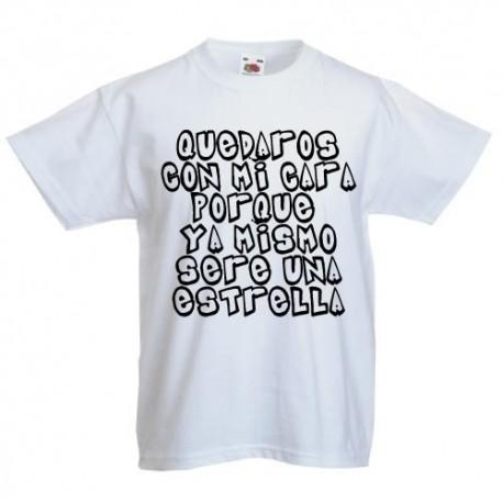 Quedate con mi cara porque ya mismo sere una estrella - Camisetas divertidas para niños