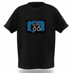 Camiseta Led, Altavoces Azules