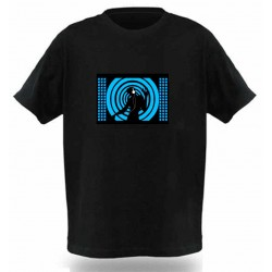 Camiseta Led, Blue Dj