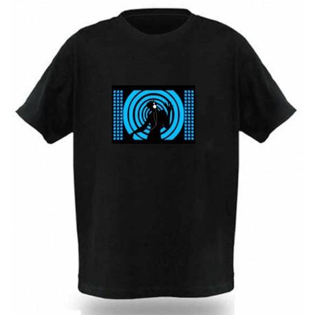Camiseta Led, Blue Dj