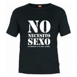Camiseta No necesito Sexo, el Gobierno ya me jode bastante, Camisetas con Mensajes