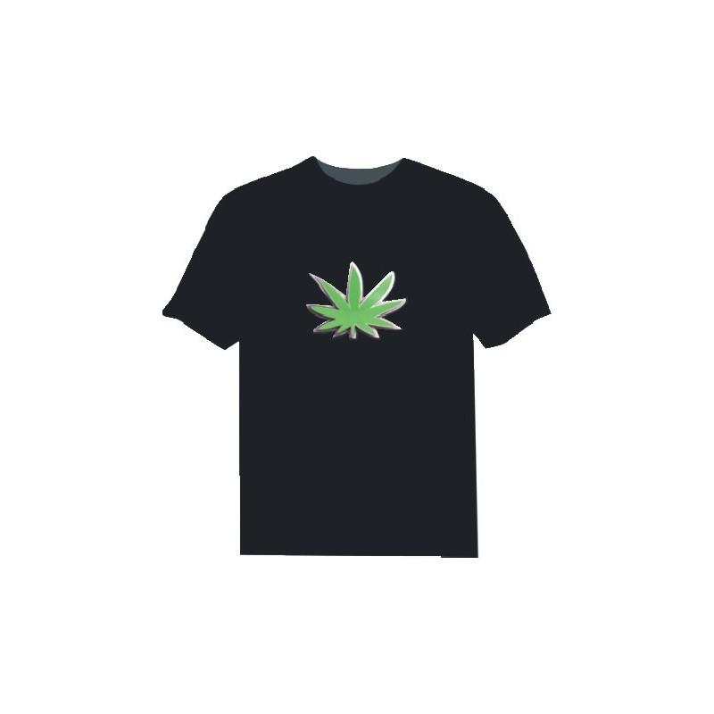 Camiseta Led Hoja de Marihuana