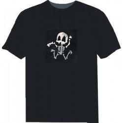 Camiseta Led Esqueleto