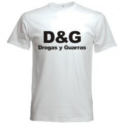 Camiseta Drogas y Guarras