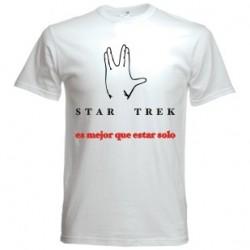 Camiseta Star Trek es mejor que estar solo