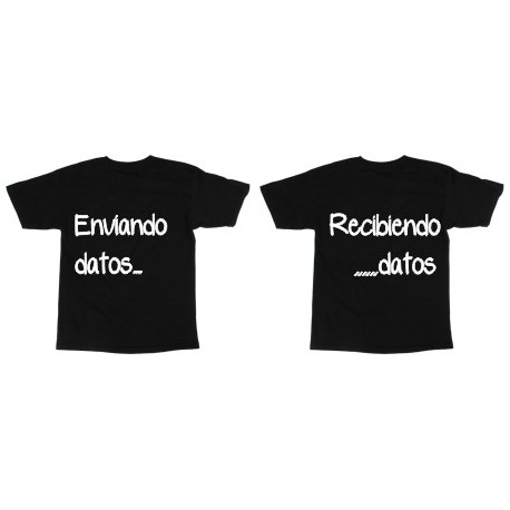 2x1 Camiseta Dupla Enviando datos, recibiendo datos