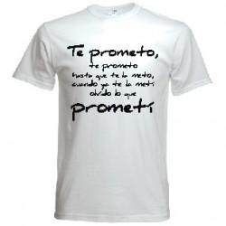 Camiseta Te prometo