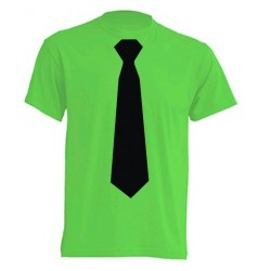 Camiseta Con Corbata Negra