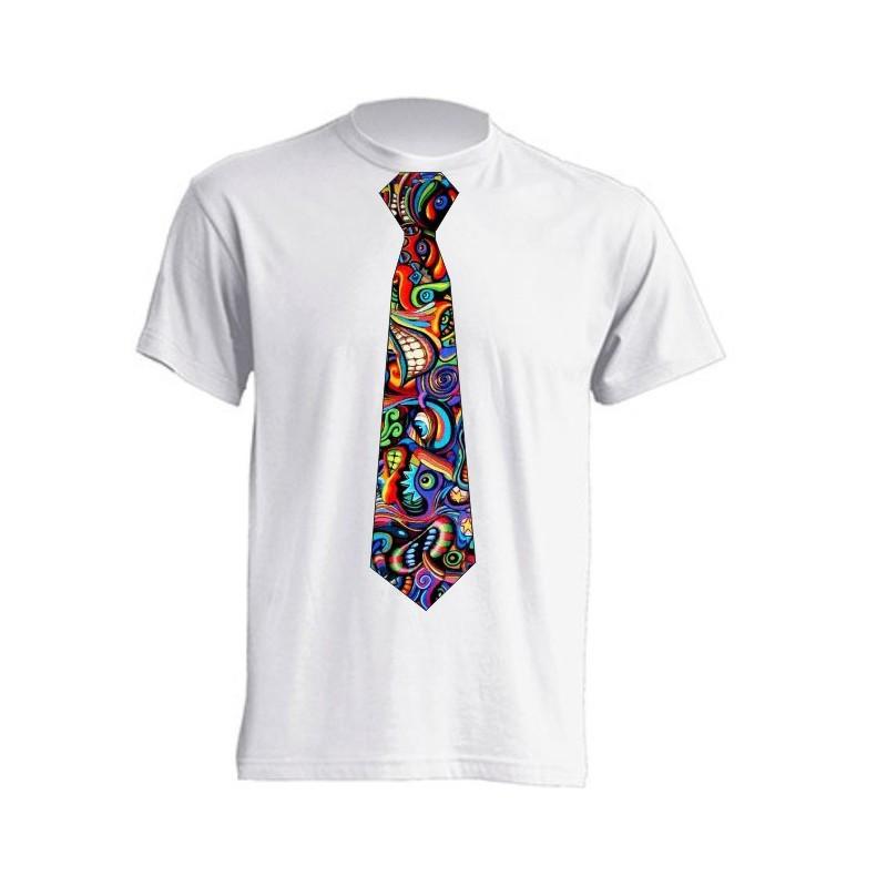 Camiseta con dise o de corbata en vinilo graffity for Disenos de corbatas