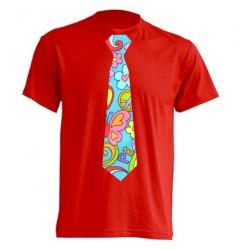 Camiseta Con Corbata Hippie