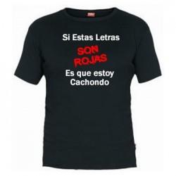 Camiseta Letras Rojas