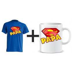 Pack superpapa Camiseta + Taza