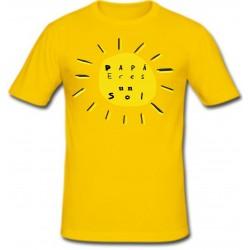 Camiseta Papá Eres un Sol