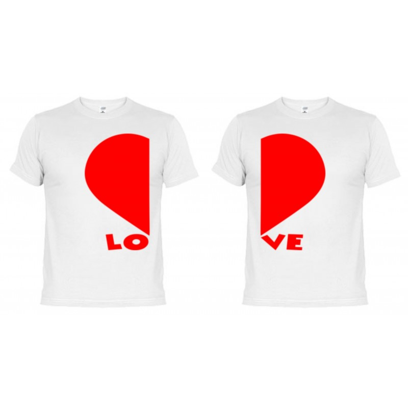 artesanía exquisita comprar online venta caliente más nuevo Camisetas dupla Corazones + Taza Personalizada de Regalo