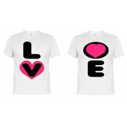 Camisetas dupla Love (+ Taza Personalizada De Regalo)