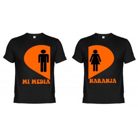 Camisetas Dupla Mi Media Naranja (+ Taza Personalizada de regalo)