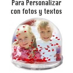 Bola de Nieve de corazones personalizable
