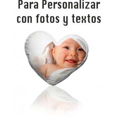 Cojín Personalizado con Foto y Texto - Tamaño Folio A4