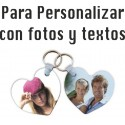 2 Llaveros de Corazón Personalizados con fotos y textos