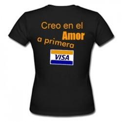 Camiseta Creo en el amor a primera Visa