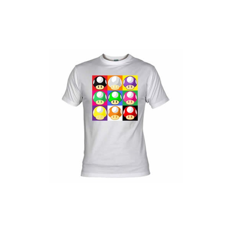 Camiseta Pop Art Champiñones