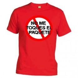 Camiseta No me toques el paquete