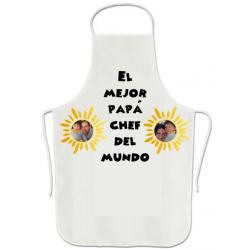 Delantal Papa Chef Con Fotos Personalizadas