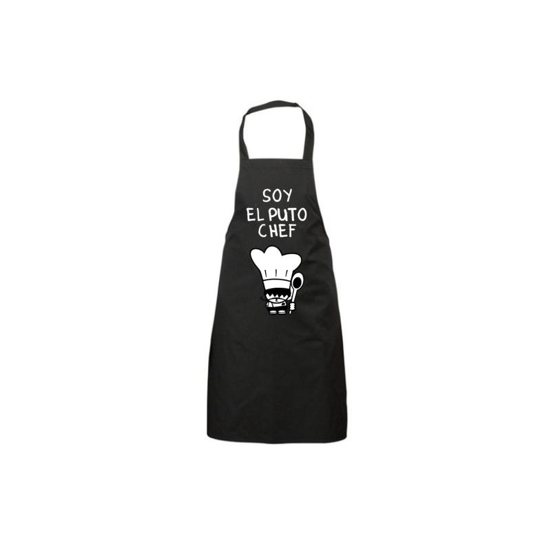 Delantales Personalizados - El Chef - Delantal Negro