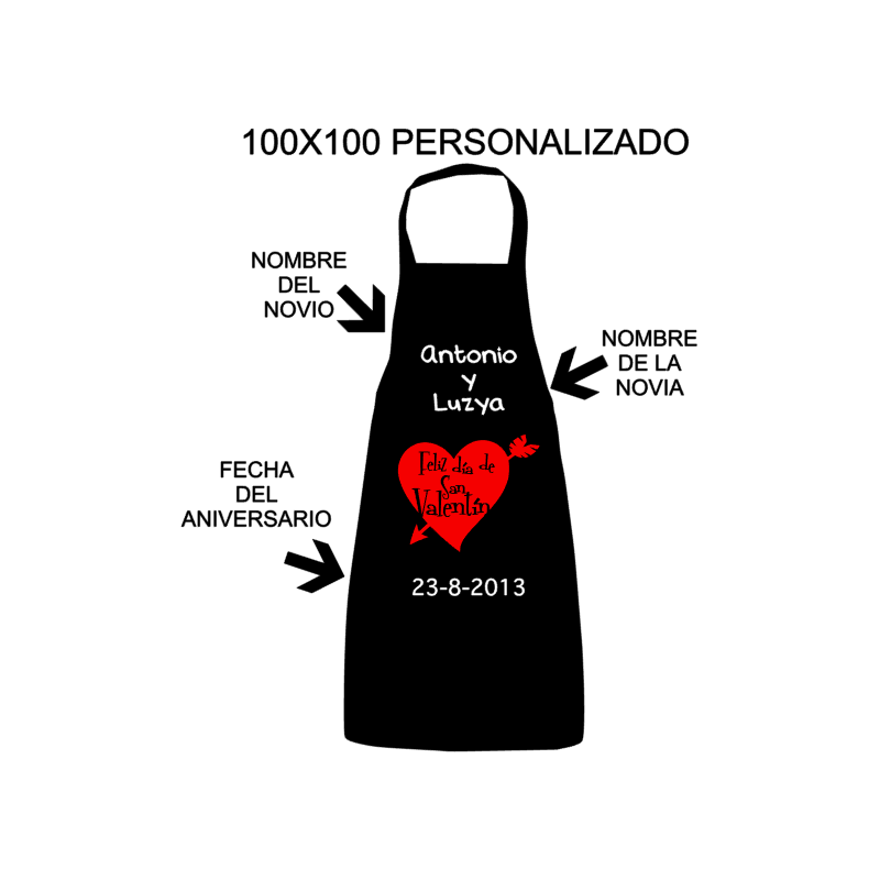 Delantales Personalizados - Especial San Valentín