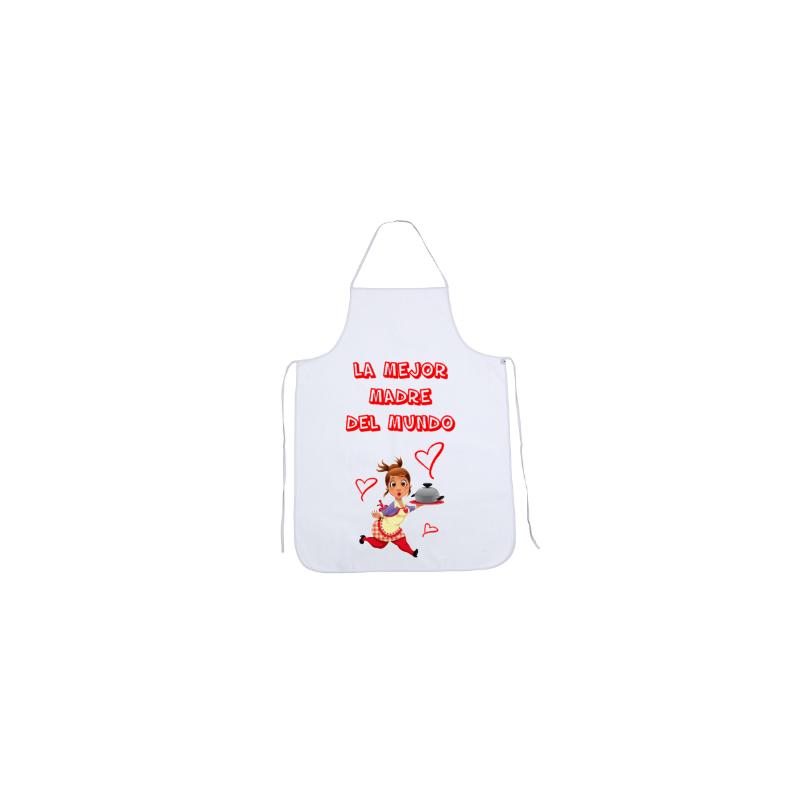 Delantales Graciosos - La Mejor Madre (con dibujo)