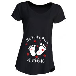 Camisetas Embarazadas - Ya falta poco amor