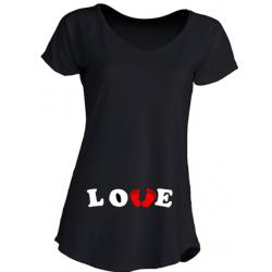 Camisetas Embarazadas - Love con Huellas