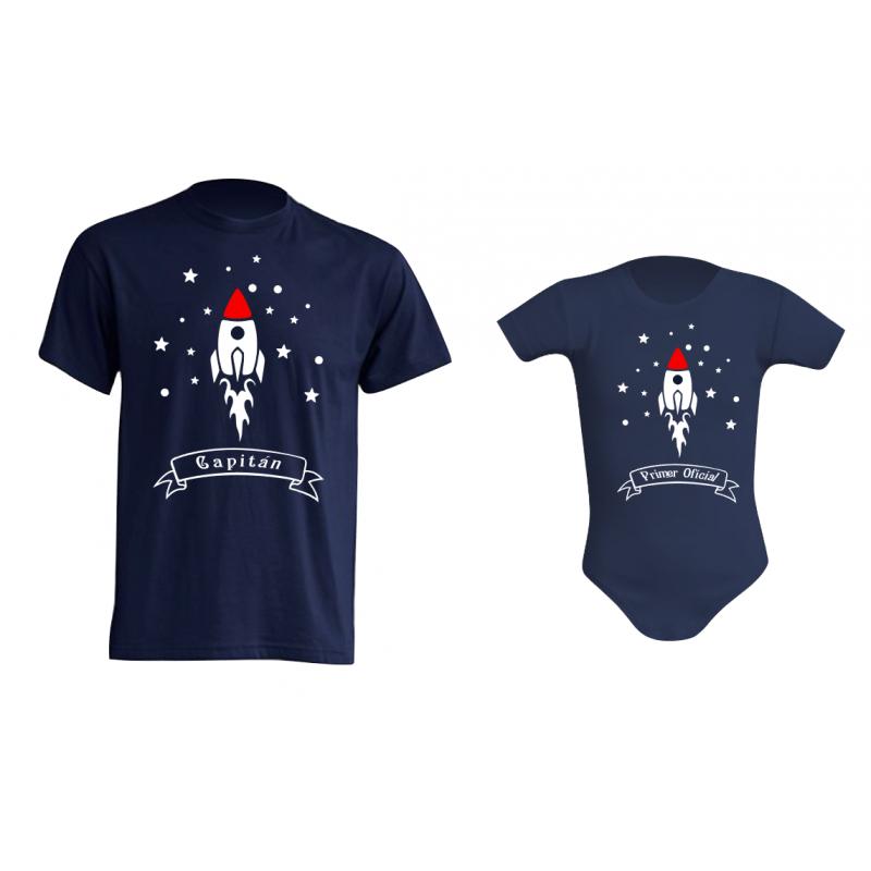 Camiseta Padre e Hijos - Capitán Espacial
