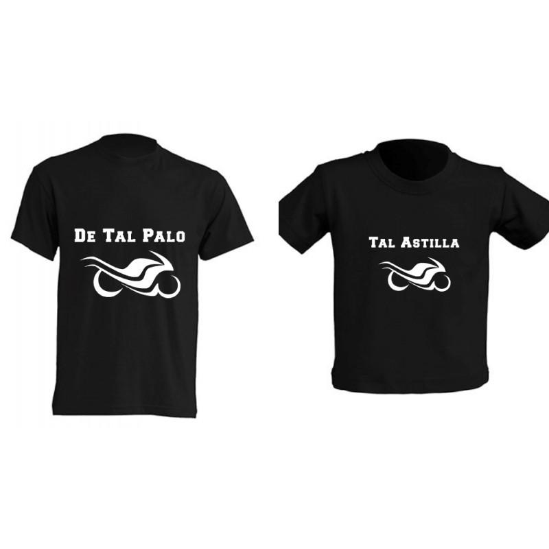Camiseta Padre e Hijos - Motos
