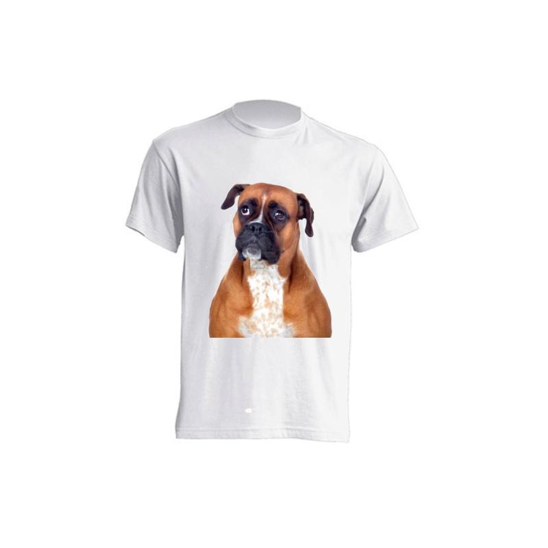Camisetas de sublimación - Perro Boxer Marrón