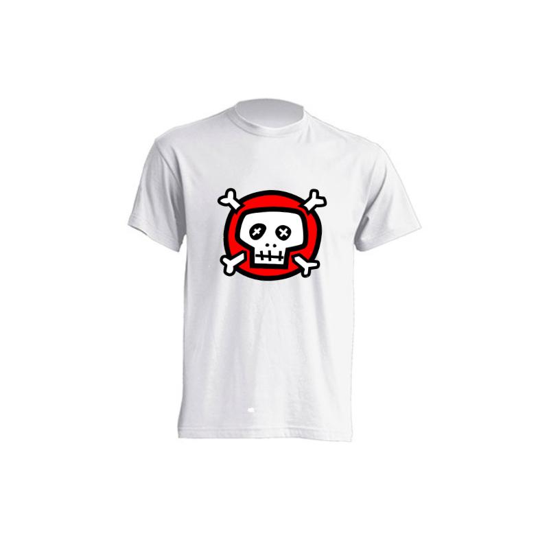 Camisetas de sublimación - Calavera blanca y roja