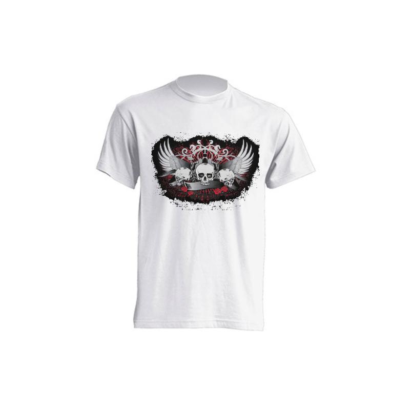 Camisetas de sublimación - Calaveras con Alas