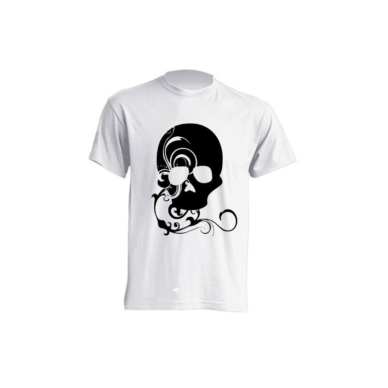 Camisetas de sublimación - Calavera con tribales