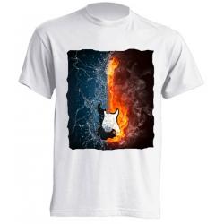 Camisetas de sublimación - Guitarra eléctrica entre llamas