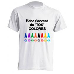 Camiseta de sublimación - Bebo cerveza de tos colores