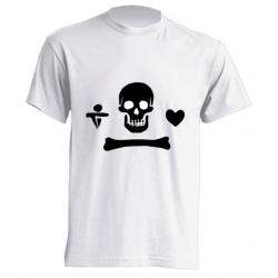 Camiseta de sublimación - Calavera Corazón Negro