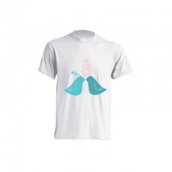 Camiseta de sublimación - Pajaritos con corazones