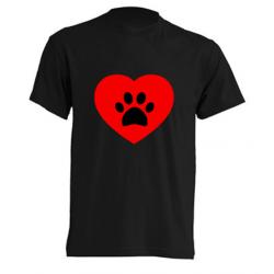 Camisetas Originales - Corazón con huella de perro