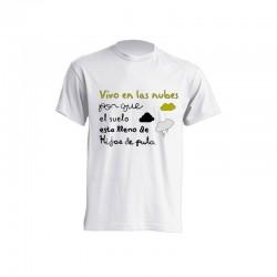 Camisetas Sublimación - Vivo en las nubes por que el suelo esta lleno de hijos de putas.