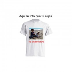 Camiseta de sublimación - Te quiero papi con foto personalizada