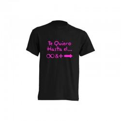 Camiseta Te quiero hasta el infinito y más allá con símbolos