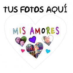 Cojines Personalizados con fotos - Mis amores 3 fotos